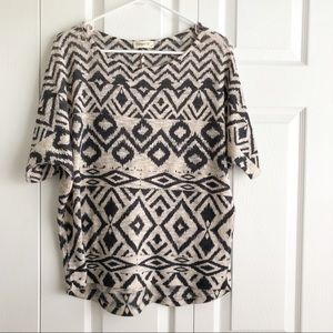 Ginger G • Light Knit Tribal Print Top